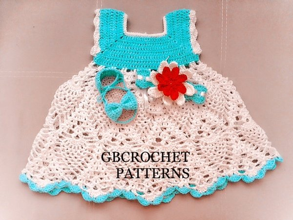 Full Detailed Baby Dress Crochet Pattern