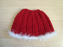 Christmas Messy bun hat Ponytail beanie for girls and women Running toque Winter cap with hair hole
