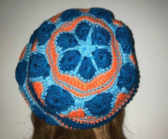Mütze Beanie Afrikanische Blume