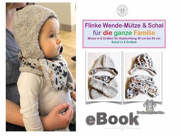 Flinke Wende-Mütze & Schal *** E-Book Pdf-Datei Schnittmuster und ...