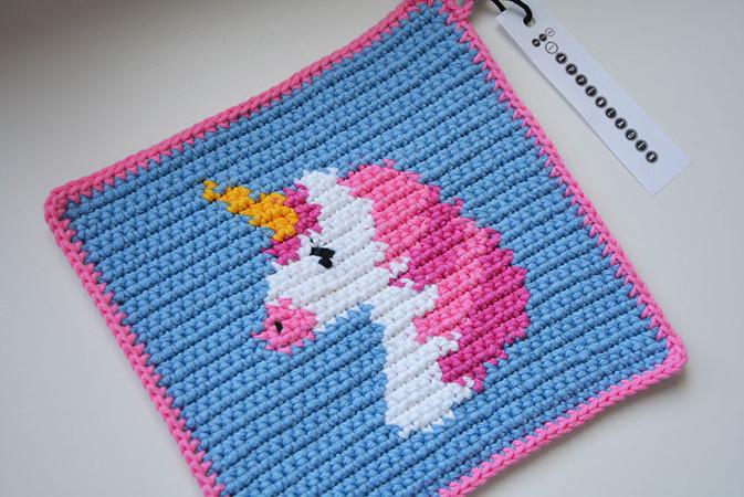 Unicorn Potholder Crochet Pattern For Beginners