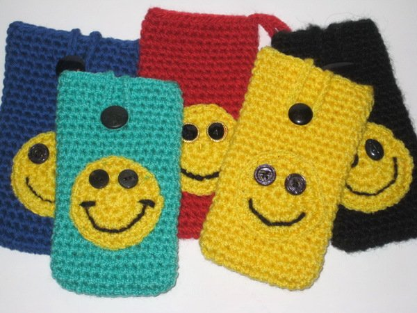 Crochet Smartphone Case Smiley