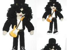 Amigurumi rock star crochet pattern