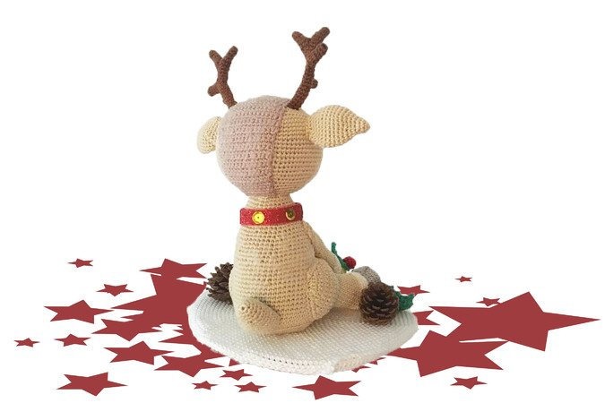 Reindeer Christopher Pattern Amigurumi PDF Deutsch - English