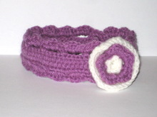 Purple baby headband crochet pattern