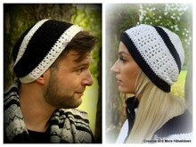 "Häkelanleitung Beanie ""Black and White"""