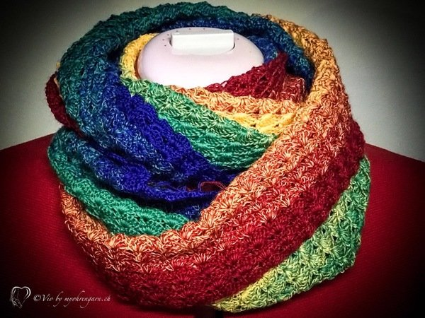 Loop Häkeln Regenbogen Farben Loop