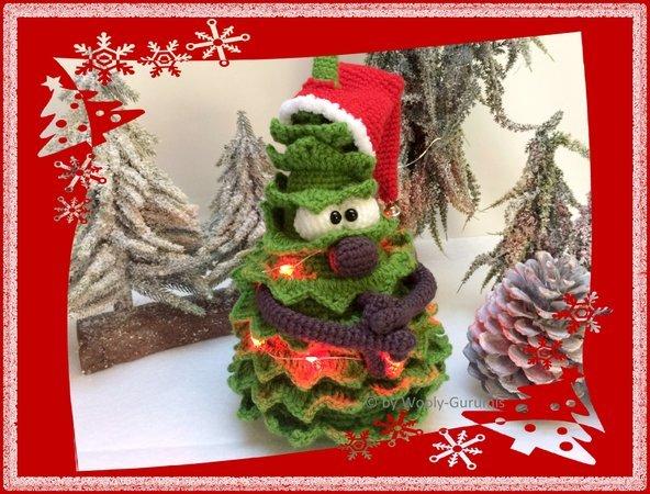Weihnachtsbaum Weihnachten.Häkelanleitung Amigurumi Weihnachtsbaum Herr Tannislav Baum Mit Beleuchtung Weihnachten