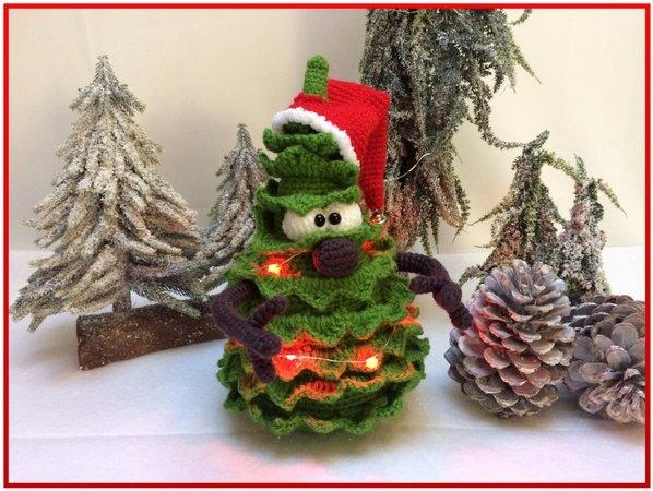 Weihnachtsbaum Mit Beleuchtung.Häkelanleitung Amigurumi Weihnachtsbaum Herr Tannislav Baum Mit Beleuchtung Weihnachten
