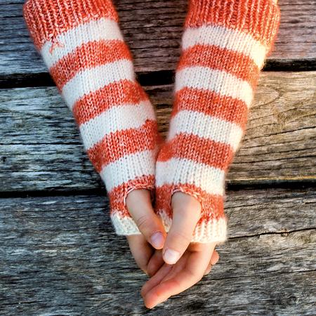 Armstulpen/Handschuhe Fuchs - für Kinder 4-5 Jahre Strickanleitung