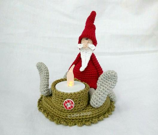 Weihnachtsdeko häkeln // Teelichthalter