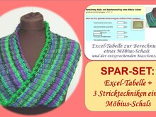 SPAR-SET  MÖBIUS-Schals/-Loops stricken