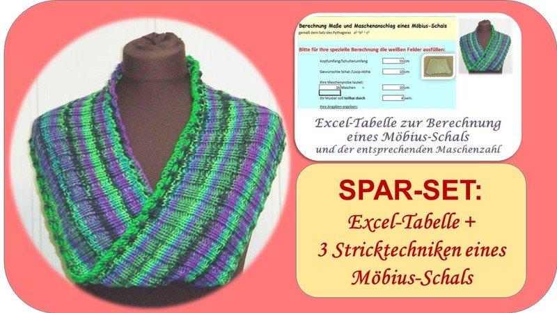 SPAR-SET MÖBIUS-Schals/-Loops stricken