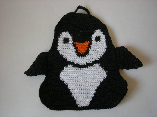 Häkelanleitung Topflappen Eisbär Pinguin