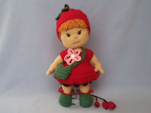 Häkelanleitung Puppe, Heli Hagebutte