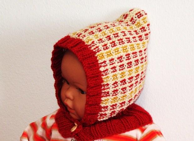 Strickanleitung - Mütze mit Schalkragen für Babys und Kinder ...
