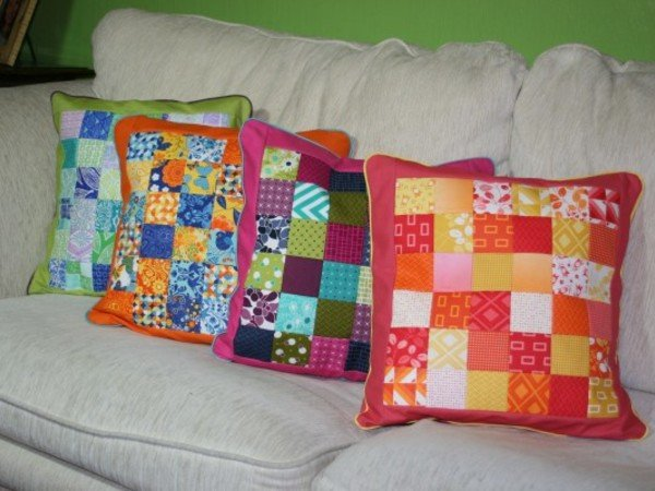 patchwork kissen charmi. Black Bedroom Furniture Sets. Home Design Ideas