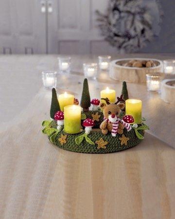 adventskranz stricken deko amigurumi h keln. Black Bedroom Furniture Sets. Home Design Ideas