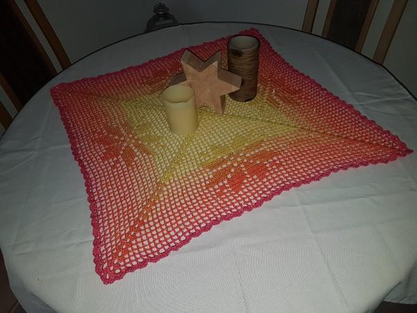 Mitteldecke Häkeln Sternmotiv Tischdecke