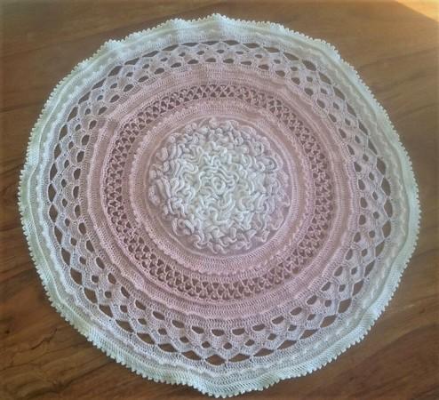 Crochet Pattern Circular Blanket Coral Reef