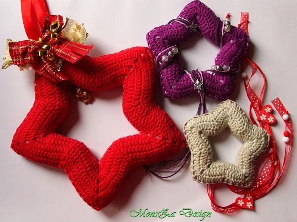 Sterne Häkeln Weihnachtsdeko 3 Größen