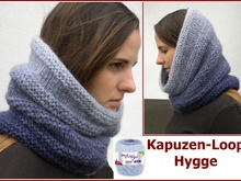 Kapuzenloop Hygge - stricken aus Woolly Hugs CLOUD