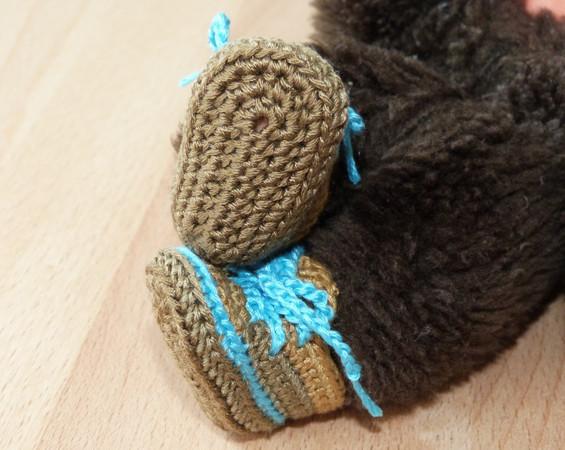 Häkelanleitung Für Mini Puppenschuhe Zb Für Monchichi