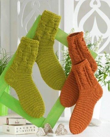 Socken Häkeln Mit Zopfmuster
