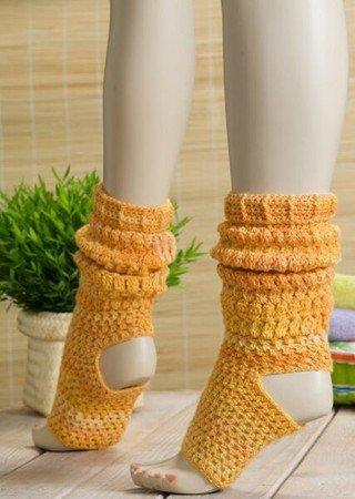Yoga Socken Hakeln Im Jacuqardmuster Mit Minisocke