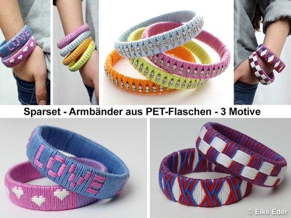 Bastelanleitung - Sparset - Armreif aus Wolle und PET-Flaschen - 3 ...