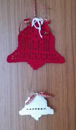 Christbaumschmuck Glocke Häkelndeko Glocken