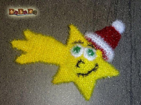 Spülschwamm Oder Duschschwamm Weihnachts Stern Gehäkelt Von Dadade
