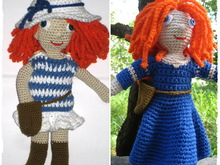 Amigurumi doll - two crochet outfits