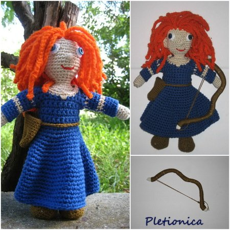 Putting Hair on Crocheted Dolls | | 450x450