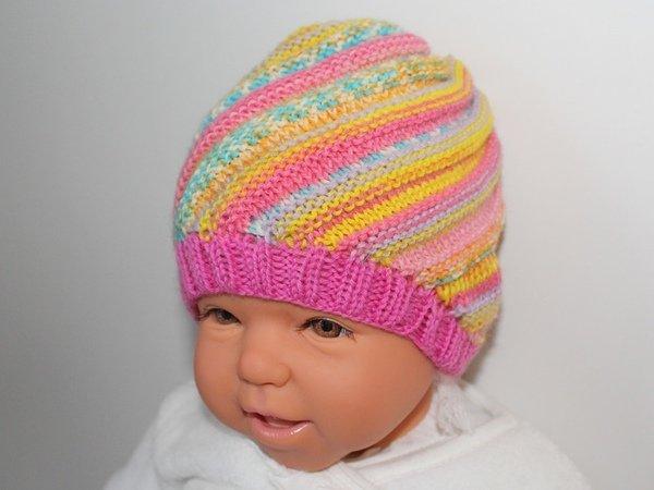 Babymütze Stricken Spiralmütze0 12 Monate