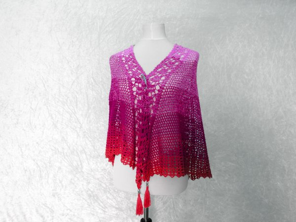 Crochet pattern shawl / lace shawl / wrap  Morning Dew