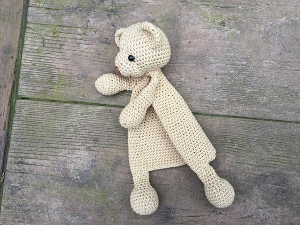 Amigurumi Doll Teddy Bear Security Blanket Crochet Pattern Knitted Doll DIY