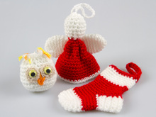 Amigurumi Doll Christmas Crochet Pattern Knitted Doll DIY