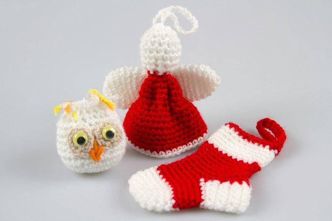 9cdfed2a6d7748 Amigurumi Doll Christmas Crochet Pattern Knitted Doll DIY
