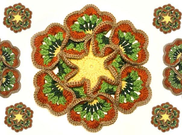 Blume Häkeln Mandala Blume Wollreste