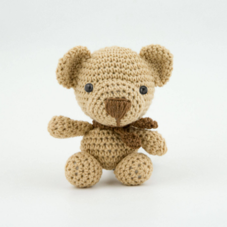 Crochet Teddy Bear Applique - Repeat Crafter Me | 450x450