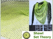 Shawl Set Theory crochet with Woolly Hugs Bobbel-Cotton - Veronika Hug