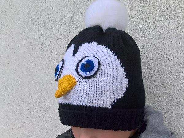 Strickanleitung Pinguin Mütze Kopfumfang 50 52 Cm