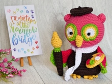 Maurice, the Marvelous Painter - Amigurumi Crochet Pattern