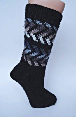 strickanleitung fr socken im zick zack muster gr 4041 - Muster Fur Socken