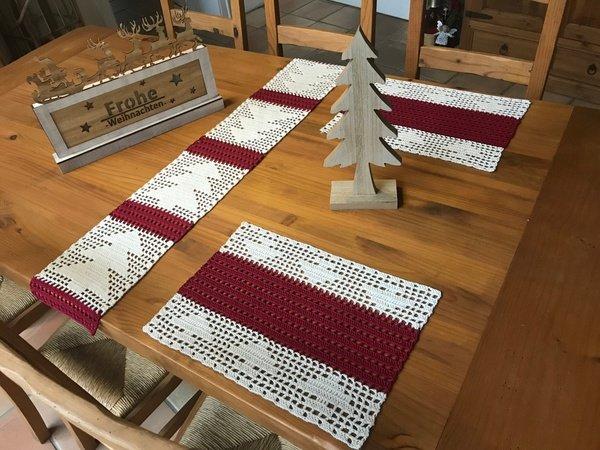 Tischläufer Häkeln Tischband Weihnachtsdeko