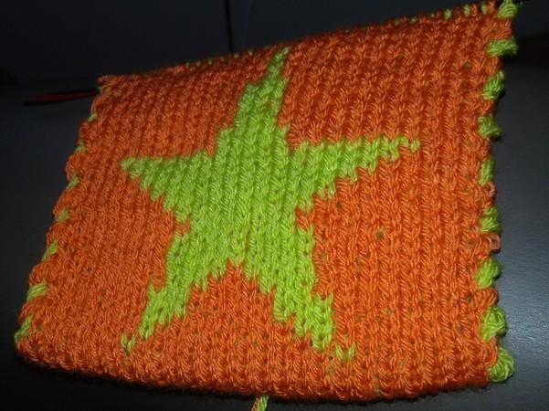 Strickmuster für 2-farbigen Stern