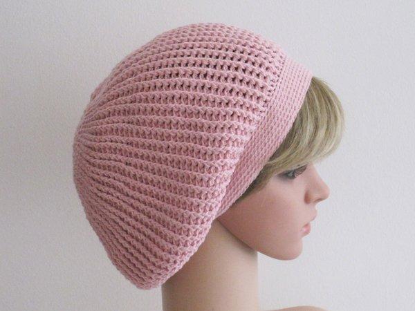 Häkelanleitung: Mädchen + Damen Mütze mit Reliefstäbchen (Größen: S ...
