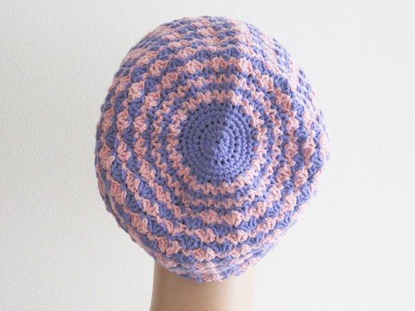 Häkelanleitung: Mädchen + Damen Mütze in 2 Farben (Größe S, M, L)