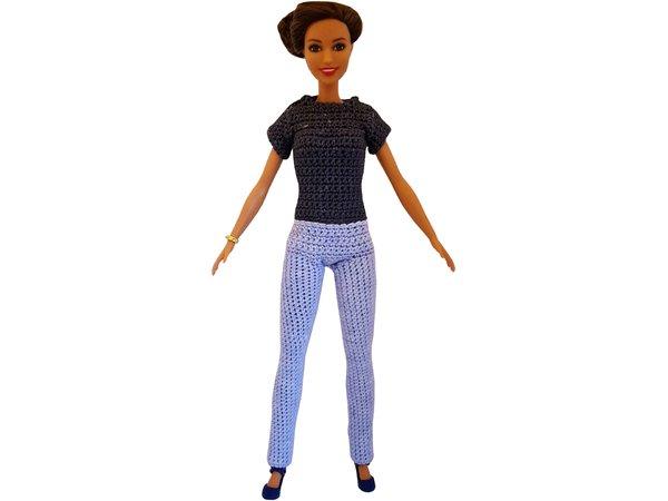 Komplettes Outfit für Modepuppen häkeln
